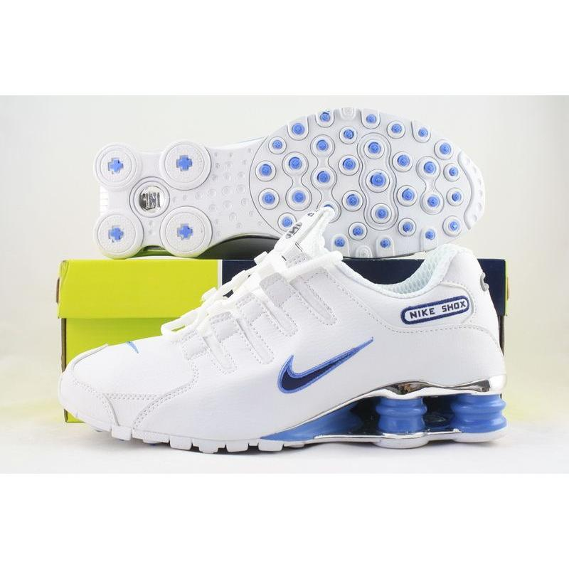 best service 17123 0722d Nike Shox NZ White University Blue