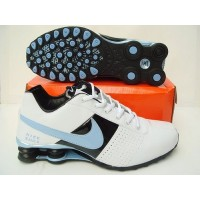 best service a676b 21e76 Nike Shox OZ White Black Light Blue
