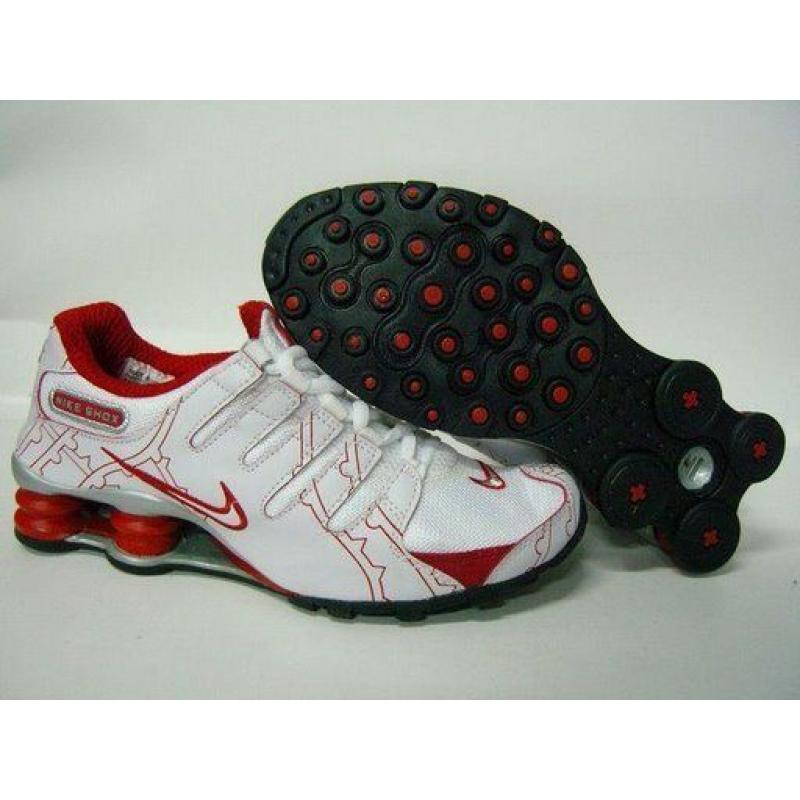 detailed look f946d c7865 Womens Nike Shox NZ Overlay White Red