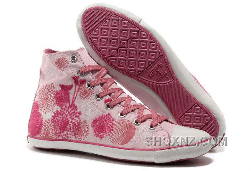 Pink CONVERSE Ballet Flats Flocking Canvas Women YikQa