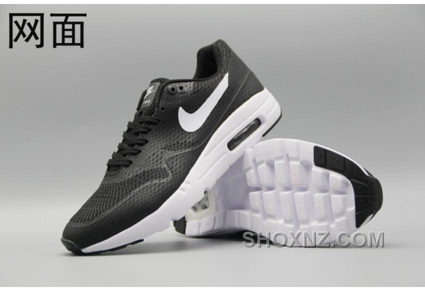 on sale 59847 6c795 Nike Air Max 1 Ultra Flyknit 87 Oreo Black White Men Women New Style F66aH