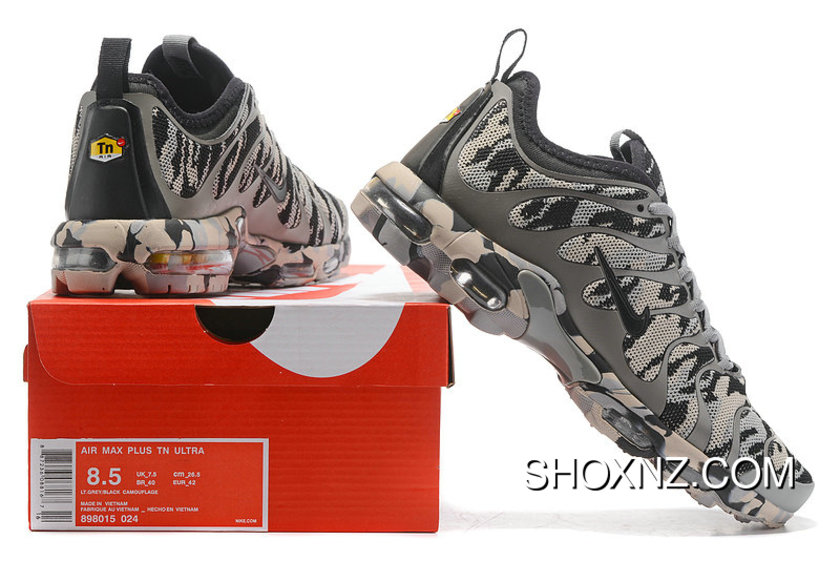 Newest Nike Air Max Plus Tn Ultra Wolf Grey Camouflage 898015 024 Sneakers Women's Men's Running Shoes 898015 024