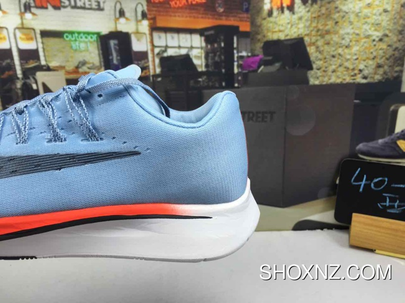 bb2b2329c3ad5 Nike Zoom Vaporfly 4% Ice Blue Bright Crimson-University Red-Blue ...