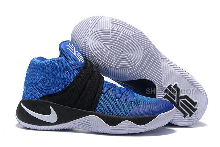 b970d63182e3 2016 Discount Nike Kyrie 2 Navy Blue White Basketball Shoes On Sale ...