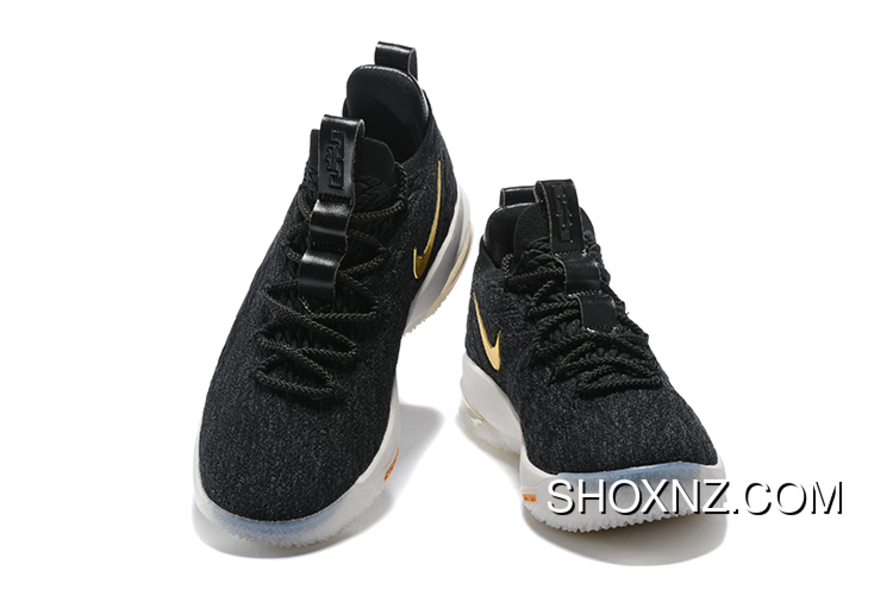 new products 6269a 2fc5b Nike Lebron 15 Low Black Metallic Gold-Phantom Men s Basketball Shoes For  Sale